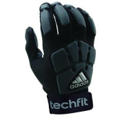 adidas Youth TechFit Lineman Football Gloves, Black/Grey, Medium