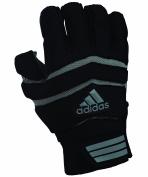 adidas Big Ugly 0.5 Padded 1/2 Finger Football Lineman Gloves, Medium, Black/Grey