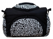 TP-31 Nappy bag PIA by Baby-Joy XXXL tall Black White LEO Nappy Changing Bag Baby Bag Ttote Bag