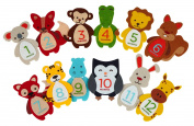 Pearhead Felt Baby First Year Milestone Belly Stickers