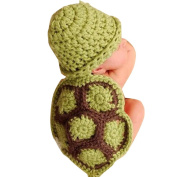 Koly Newborn Baby Turtle Crochet Knitted Clothes Costume Set Photo Prop Outfits for 0-4 Months