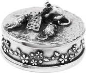 Mouse Pewter Trinket Box