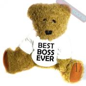 Best Boss Ever Novelty Gift Teddy Bear