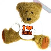 I Love Gingers Novelty Gift Teddy Bear
