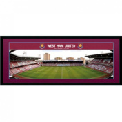 West Ham United F.c. Picture Boleyn Ground 30 X 12 Framed Picture 80cm X 30cm Official