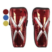 SJ- Small Professional Super Light Football Soccer Shin Guard with Belts (2 Pieces) , Yellow