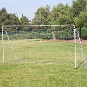 3.7m x 1.8m Soccer Goal With Net hook and loop Straps, Anchor Large Soccer Goal Sports