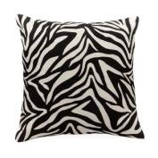 Torre & Tagus 901281 Safari Crewel Embellished Square Cushion, Zebra Print