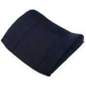 Memory Foam Standard Lumbar Cushion wNavy Polycotton Zippered Cover & Strap - L 38cm x H .130cm x W 33cm