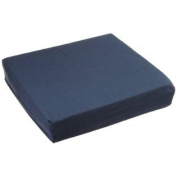 WC4430ANV Wheelchair Cushion with Navy Polycotton Zippered Cover