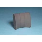 Bucketseat Lumbar Cushion wBlack Polycotton Zippered Cover & Strap - L 38cm x H .130cm x W 33cm