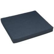 Black Polycotton Cover For 41cm X 41cm X 5.1cm Cushion - L 41cm x H 5.1cm x W 41cm