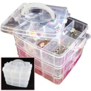 Portable Nail Art Tips Makeup Cosmetics Jewellery Container Storage Box Case Gift