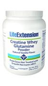 Creatine -Whey-Glutamine Powder, Vanilla 0.5kg by Life Extension