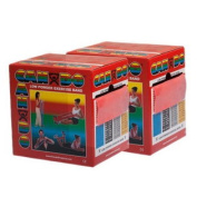 (Price/Each)CanDo 10-5492 Cando Low Powder Exercise Band - Twin-Pak - 100 Yard (2 X 50-Yd Rolls) - Red - Light