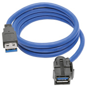 Tripp Lite USB 3.0 SuperSpeed Keystone Jack Type-A Extension Cable (M/F), 0.9m