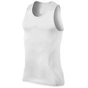 Slimming Trimmer Body Shaper Lose Weight Vest Tank T-Shirt for Men, White, Medium