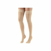 Terramed Graduated Compression Thigh Highs 20-30 mmHg (Sheer with Lace Top and Strong Silicone Band)
