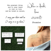 Tattify Romantic Quote Temporary Tattoos - Words of paradise