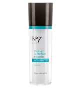 Boots No7 Advanced Protect & Perfect Intense Anti Ageing Serum Bottle - 1 oz-
