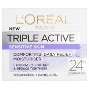 L'Oreal Paris Triple Active Day Moisturiser for Dry and Sensitive Skin 50 ml