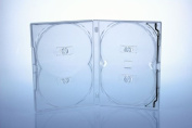 Amaray DVD case / multibox ( 5 pcs ) in clear to hold 4 discs