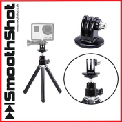 EXTENDABLE TRIPOD STAND HOLDER PLUS GOPRO MOUNT ADAPTER FOR GOPRO HD HERO 1 2 3 3+ 4