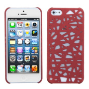 INSTEN Red Bird's Nest Rubberized Protector Phone Case Cover for Apple iPhone 5