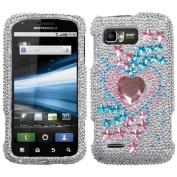 INSTEN Star Track Diamante Phone Case Cover for Motorola MB865 Atrix 2