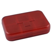 Red Plastic 6 Compartments Earrings Jewellery Organiser Storage Box Holder