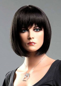 Forever Young Ladies Short Dark Brown Wig! Classy Bob Style from Premium VOGUE Wigs UK