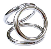 Rouge Garments Small Stainless Steel Triple Cock Ring Cage