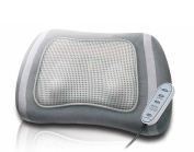 Shiatsu Massage cushion with switchable Rotlicht- and Heat function, 4 rotating massage heads with selectable Direction of rotation, Cable remote control, extra quieter Motor, Relaxation (massage) and Health (Infrared) in one Massage cushion combines