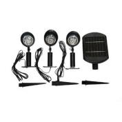 Master Craft St. Petersburg Solar Powered Outdoor Spotlight Set, 3 Lights