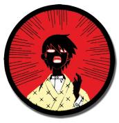 Patch Sayonara, Zetsubou-Sensei Zetsubou! Nozomu Iron-on ge4376