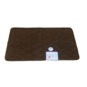 Tranquilly Luxurious Memory Foam Brown Bath Mat Skid Resistant Throw Rug 20x32