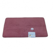 Tranquilly Luxurious Memory Foam Pink Bath Mat Skid Resistant Throw Rug 20x32