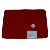 Tranquilly Luxurious Memory Foam Rich Red Bath Mat Skid Resistant Throw Rug
