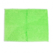 Man-made Fibre Textured Square Design Home Washcloth Towel 22cm x 18cm Green