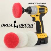 Non Scratch Soap Scum Removal Rotary MINI Scrub Pads 7.6cm
