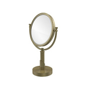 Allied Brass TR-4/3X-ABR Table Mirror with 3X Magnification, Antique Brass