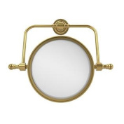 Allied Brass 20cm Swivel Mirror 3x Mag Polished Brass