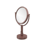 Allied Brass TR-4/4X-CA Table Mirror with 4X Magnification, Antique Copper