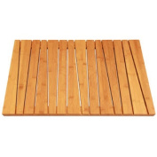 Bamboo Deluxe Shower Floor and Bath Mat - Skid Resistant - Heavy Duty Solid Design.