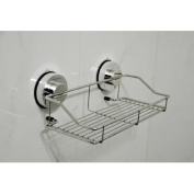 Genexice Stainless Steel Suction Shower Caddy with Rotate & Lock Suction Cups