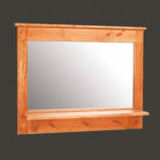 Vanity Mirror Combo Coat Peg Rack Shelf 60cm x 80cm | Renovator's Supply