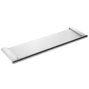 KES A2720-2 Bathroom Tempered Glass Shelf Wall Mount, Brushed SUS304 Stainless Steel Post