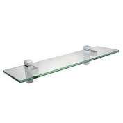 KES BGS3201 Lavatory Bathroom Tempered Glass Shelf 8MM-Thick Wall Mount Rectangular, Polished Chrome