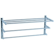 Cifial 422.210.625 Techno Three Tier Towel Shelf, Polished Chrome