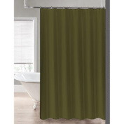 2-in-1 Water Repellant 70 x 72 Polyester Fabric Shower Curtain or Liner Sage